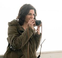 #StanaKatic snaps a photo behind the scenes on the set of #Absentia!
