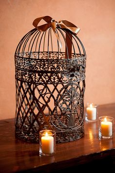 Cute bird cage decoration