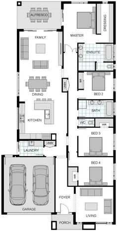 Floorplan | Sherwood - My edit - Flip the bedrooms so the Master bedroom is at the front of the house