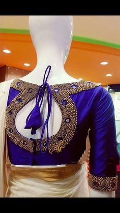 Cutwork Blouse Designs, Wedding Saree Blouse Designs, Pattu Saree Blouse Designs, Simple Blouse Designs, Stylish Blouse Design, Blouse Back Neck Designs, Blouse Neck, Hand Work Blouse Design, Designer Blouse Patterns