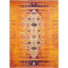 Safavieh Monaco Orange/ Multi Rug (10' x 14') - 17097427 - Overstock.com Shopping - Great Deals on Safavieh 7x9 - 10x14 Rugs