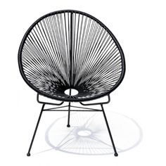 ACAPULCO CHAIR - BLACK WITH BLACK FRAME