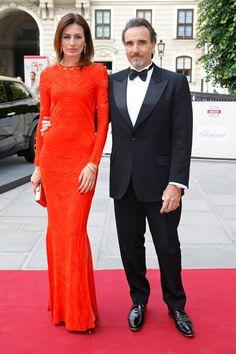 #NievesAlvarez in #RobertoCavalli at the #LifeBall2013 #Gala Dinner #celebrities