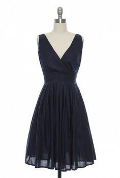 One Scoop, or Two? Dress in Navy   Vintage, Retro, Indie Style Dresses