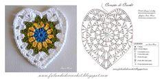 Crochet Granny Heart -Chart ❥ 4U // hf