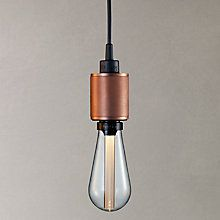 Buy Buster + Punch ES Pendant Cord Ceiling Light, Rose Copper Online at johnlewis.com