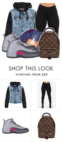 """something slighttttt"" by laughoutloud-101 ❤ liked on Polyvore featuring H&M and Louis Vuitton"