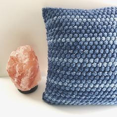 A personal favorite from my Etsy shop https://www.etsy.com/listing/513548439/blue-denim-bobble-pillow-decorative