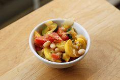 Summer Squash & White Bean Saute- Omit oil
