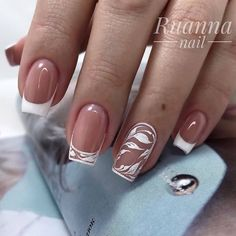 French Tip Acrylic Nails, Short Square Acrylic Nails, Short Square Nails, Pink Acrylic Nails, French Nails, Gel Nails, Nail Polish, Nail Art Designs, Square Nail Designs