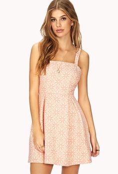 Pin for Later: Schöne Kleider von denen keiner glaubt, wie preiswert sie sind Forever 21 Fit and Flare Dress Forever 21 Ornate A-Line Dress ($25)
