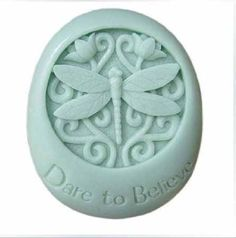 Watering Can 2D Food Silicone Mold Dragonfly Daisies