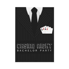 Casino Night invitation from Zazzle. (We like the idea of trying this one with a tuxedo.)