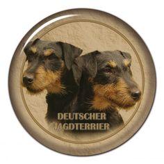 Deutscher Jagdterrier 3D sticker - #deutscherjagdterrier #jagdterrier #huntterrier #germanhuntterrier