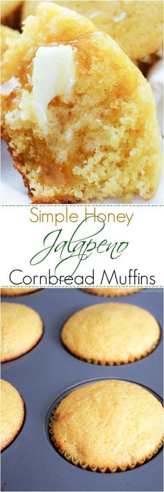 Looking for a great cornbread recipe? You HAVE to try these soft and fluffy honey jalapeno cornbread muffins... they are sure to be a favorite!: