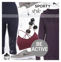 """Sporty Style"" by pokadoll ❤ liked on Polyvore featuring NIKE, polyvoreeditorial and polyvoreset"