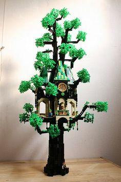 Construction Toys of the Year Lego Tree, Lego Display, Amazing Lego Creations, Lego Pictures, Lego Duplo, Lego Moc, Lego Building Blocks, Lego Craft, Lego Castle
