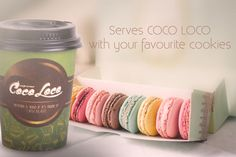 Serves Coco Loco with your favourite cookies
