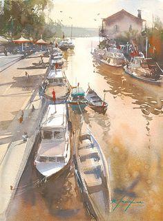 Goksu, Istanbul, Turkey I by Keiko Tanabe Watercolor ~ 16 x 12 inches (54 x 31 cm)