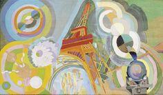 Tableaux sur toile, reproduction de Delaunay, Air, fer et eau