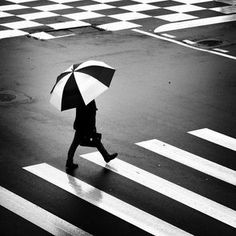 Black and White Crosswalk