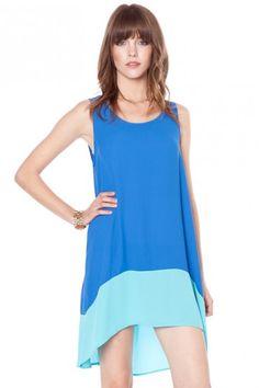 colorblock hi lo dress.  so comfy and stylish.  $42