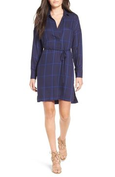 Lush Windowpane Shirtdress available at #Nordstrom Comes in White $48.00Free ShippingItem #5242314