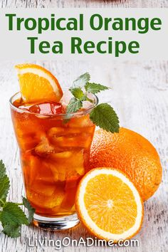 Tropical Orange Tea Recipe - 13 Homemade Flavored Tea Recipes Looking for a new recipe? We've gathered all of the highest rated recipes in our collection. From breakfast to dinner, lunch and dessert, and everything between. Sweet Tea Recipes, Iced Tea Recipes, Fruit Tea Recipes, Drink Recipes, Water Recipes, Refreshing Drinks, Summer Drinks, Glace Fruit, Homemade Iced Tea