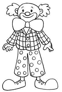 clown ausmalbild tiere kinder gratis ausdrucken children print carnival | fasching | pinterest