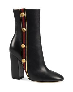 Gucci Carly Block Heel Booties at #Bloomingdale's I am a Gucci lover, a lover of the classics! #reflectingfashion #robinality