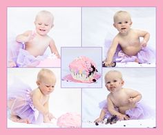 Cake Smash Collage #baby #photography