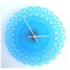 Blue Vintage Glass Clock from Solos Glass
