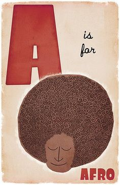 A is for Afro. A is for Afro. Natural Hair Art, Natural Hair Journey, Au Natural, Going Natural, Natural Beauty, Etsy Vintage, Afro Art, Natural Styles, Natural Hair Inspiration