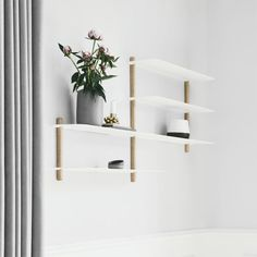 Nivo is a minimalistic wall shelf designed by Böttcher & Kayser for Gejst. Custom Floating Shelves, Minimal Bedroom, Bookcase Wall, Regal Design, Wall Shelves Design, Contract Furniture, Light Oak, New Living Room, House And Home Magazine