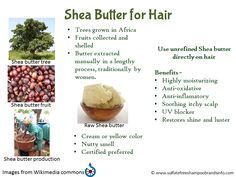 Shea butter - natural hair moisturizer with medicinal properties. Natural UV…