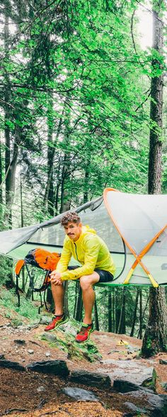 Gain a new perspective on nature with Tentsile, discovered by The Grommet. This three person tent suspends from trees with an innovative 3-point tension system.
