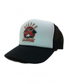 HiLife X Island Snow Collaboration Trucker - 4th Edition; Color Options: Black and Red. $23.00 Available online at islandsnow.com and at the Island Snow Hawaii Kailua Beach Center location.
