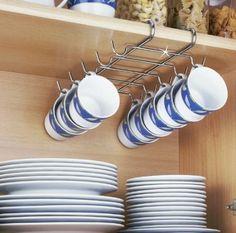 Wenko 2748130100 Schrankeinsatz Tassenhalter - für 10 Tassen, Chrom, 28 x 5 x 22 cm: Amazon.de: Küche & Haushalt