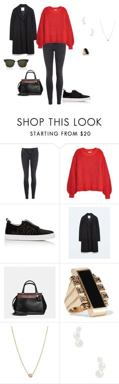 """""""Untitled #1462"""" by andreagautorhcp ❤ liked on Polyvore featuring AllSaints, H&M, Pierre Hardy, Zara, Coach, Lanvin, ZoÃ« Chicco, Janis Savitt, Gucci and men's fashion"""