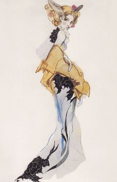 Julie Verhoeven for John Galliano - 1994 - Fashion illustration - @~ Mlle