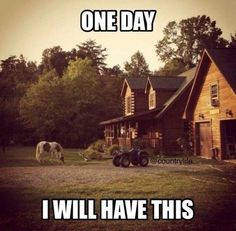 My dream, a horse, a fourwheeler the only thing that could make it better is a truck and a family! Heck ya country life is sweet! Country Girl Life, Country Girl Quotes, Country Girls, Country Living Quotes, Living In The Country, Country Girl Stuff, Country Man, Country Strong, Country Roads
