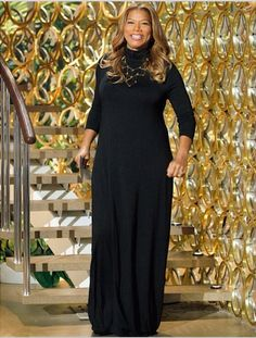 The one and only looks stunning in her Boyd dress! I bought this dress after seeing Queen in it. Curvy Fashion, Unique Fashion, Plus Size Fashion, Girl Fashion, Plus Size Womens Clothing, Plus Size Outfits, Victoria Fashion, Queen Latifah, Girl With Curves