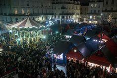 #SoleilsdHiver #Angers 90 chalets y accueillent les visiteurs, jusqu'au 31 décembre. (Photo: Thierry Bonnet/Ville d'Angers)