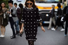 Christine Centerena (day one) of Paris Fashion Week. Photo: @le21eme.
