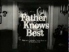 "Father Knows Best, ""Season 4 Original Opening"" Life In The 1950s, Vintage Tv, Vintage Ladies, Tv Theme Songs, Father Knows Best, Young Fathers, Robert Young, Intro Youtube, Tv Themes"