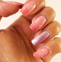 #lace #lacenailart #nailart #stampingnailart #stamping #nailart #mani #uñas #diseñodeuñas #uñasestampadas #pink