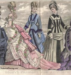 The HoopSkirt Society — 1876 godey's lady's book 1870s Fashion, Edwardian Fashion, Vintage Fashion, French Fashion, Fashion 2020, Gothic Fashion, Ladies Fashion, Victorian Gown, Victorian Costume