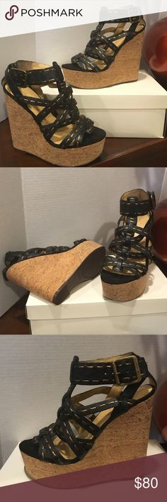 "NEW NINE WEST Gorgeous brand new very soft genuine leather shoes! Very light! Rare! Heel 5,5"" platform 1,5""! Very comfortable! Box include! Nine West Shoes Platforms"