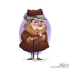 lulu's art blog - BRILLIANT old lady.