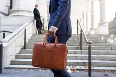 Linjer's soft briefcase in luxurious vegetable-tanned leather from Turkey. Pre-order on Kickstarter and save Learn more here. Mens Leather Laptop Bag, Leather Briefcase, Leather Backpack, Leather Bag, Laptop Pouch, Briefcase For Men, Foot Pads, Dundee, Vegetable Tanned Leather